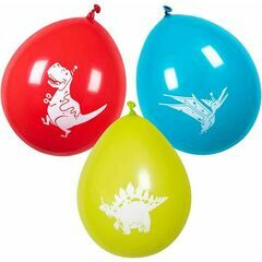 Dinosaur Party Latex Balloons (Pack of 6)