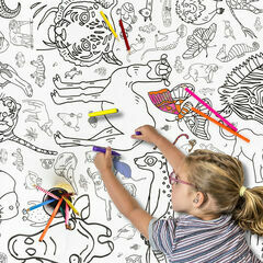 Eggnogg Colour In Giant Poster - Amazing Animals