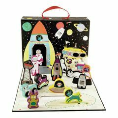 Floss & Rock Play Box with Wooden Pieces - Space