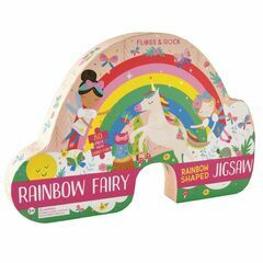 Floss & Rock 80 Piece Shaped Puzzle - Rainbow Fairy