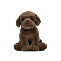 Living Nature Chocolate Labrador Puppy Soft Toy
