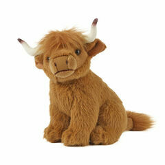 Living Nature Small Highland Cow Soft Toy
