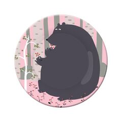 Petit Jour Paris Forest Side Plate - Bear
