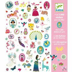 Djeco 1000 stickers - for girls