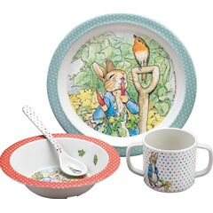 Petit Jour Paris Peter Rabbit 4 Piece Dining Gift Set