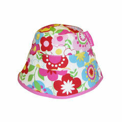 Toby Tiger Reversible Sun Hat - Multi-flower/Pink Spot