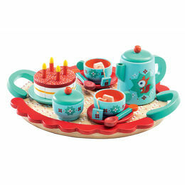 Djeco Fox\'s Tea Party Wooden Tea Set