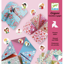 Djeco Origami - Pink Flower Fortune Teller