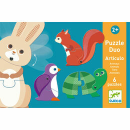 Djeco Puzzle Duo - Articulated Animals