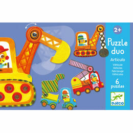 Djeco Puzzle Duo - Articulated Vehicles