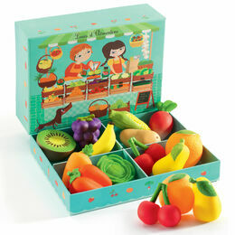 Djeco Louis and Clémentine Fruit & Vegetable Role Playset