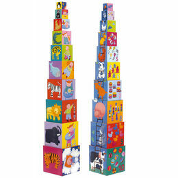 Djeco Funny Animals Stacking Cubes