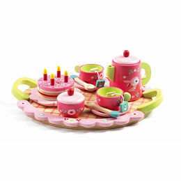 Djeco Lili Rose Wooden Tea Party Set
