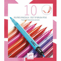 Djeco 10 Double Ended Felt Tip Pens - Pink