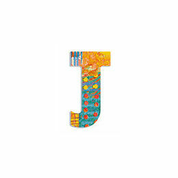 Djeco Wooden Letter J - Peacock