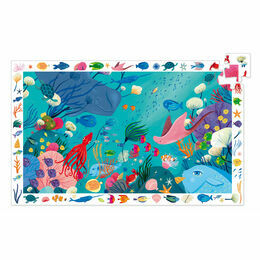 Djeco 54 Piece Observation Puzzle - Aquatic