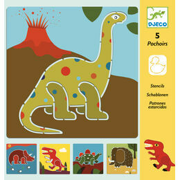 Djeco Dinosaurs Stencil Colouring Set
