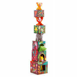 Djeco Topanijungle Animal Stacking Cubes