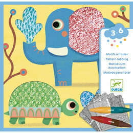 Djeco Pattern Rubbing Art Set - Magali\'s Friends