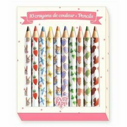 Djeco Mini Colouring Pencils (Pack of 10)