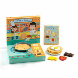 Djeco Gaëlle and Titouan Wooden Pancake Playset