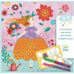 Djeco Magic Felt Tip Workshop - Marie\'s Pretty Dresses
