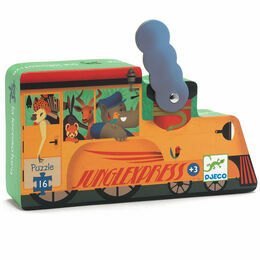 Djeco Silhouette Puzzle 16 Piece - The Locomotive
