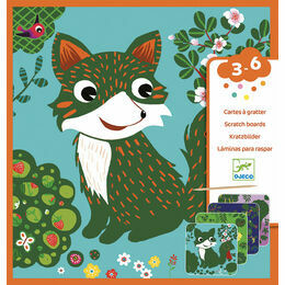 Djeco Scratch Cards - Woodland Creatures
