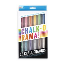 Ooly Chalk-O-Rama Dustless Chalk Crayons - Set of 12