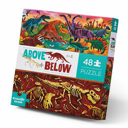 Crocodile Creek Above & Below 48 Piece Puzzle - Dinosaur World