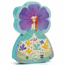 Djeco Silhouette Puzzle 36 Piece - Princess of Spring