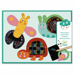 Djeco Scratch the Funny Animals Art Kit