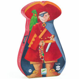 Djeco The Pirate & His Treasure Silhouette Jigsaw Puzzle - 36 Piece