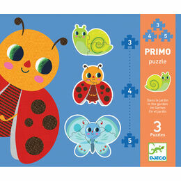 Djeco Primo Set of 3 Jigsaw Puzzles - In the Garden