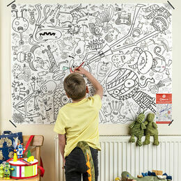 Eggnogg Colour In Giant Poster - Monsters & Ghosts