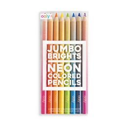 Ooly Jumbo Brights Neon Coloured Pencils (Set of 8)