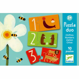 Djeco Animal Numbers Puzzle Duos