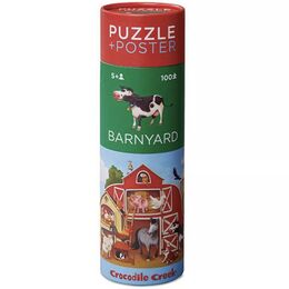 Crocodile Creek 100 Piece Puzzle & Poster - Barnyard