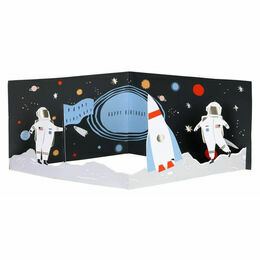 3D Space Scene Birthday Card