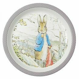 Petit Jour Paris Peter Rabbit Baby Plate (Taupe)