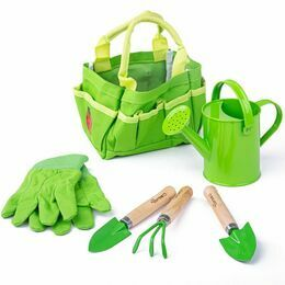 Bigjigs Toys Small Tote Gardening Bag with Tools