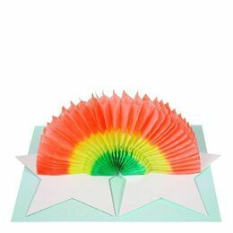 Rainbow Honeycomb Birthday Card