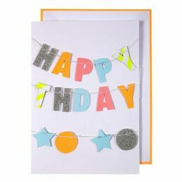 Colourful Happy Birthday Garland Card