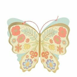 Floral Butterfly Stand-Up Birthday Card