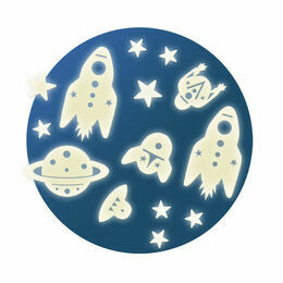 Djeco Glow in the Dark Stickers - Mission Space