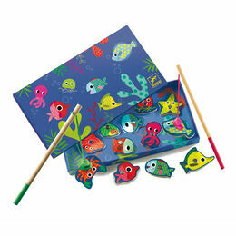 Djeco Colourful Magnetic Fishing Game