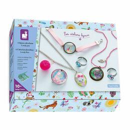 Janod Creative Kit - Lovely Pets Cabochon Jewellery