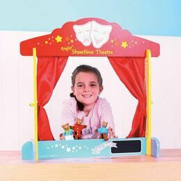 Bigjigs Toys Wooden Table Top Theatre