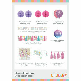 Magical Unicorn Party Decoration Box