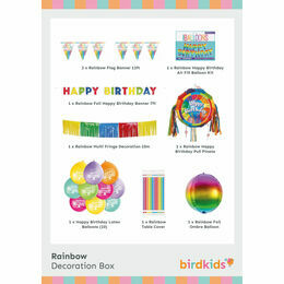 Rainbow Party Decoration Box